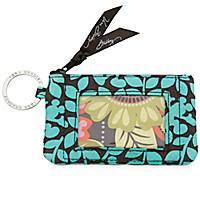 Mickey's Perfect Petals Zip ID Case by Vera Bradley