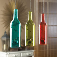 Candle Lanterns-Hanging Glass Bottle + Free Gift!