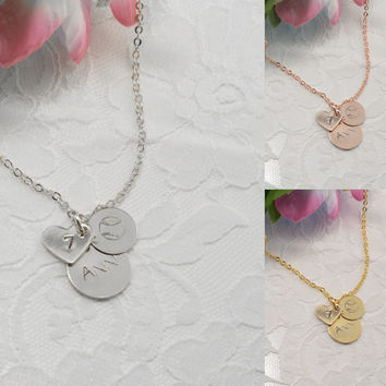 Baseball Ball Personalized Disc Coin Heart Necklace Bracelet Anklet Delicate Hand Stamped Jewelry