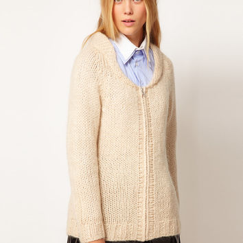 ASOS WHITE Tidy Your Room Cardigan