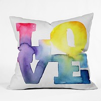 CMYKaren Love 4 Throw Pillow