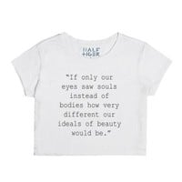 LJ Quote written in black-Unisex Snow T-Shirt