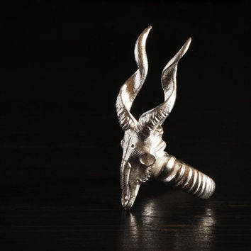 Antelope Ring size7 17.3mm + more sizesby mooses on Shapeways