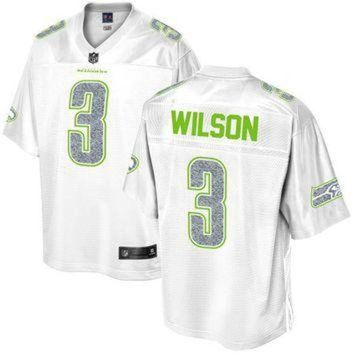 PEAPYD9 Men's Seattle Seahawks Russell Wilson NFL Pro Line White Out Fashion Jersey