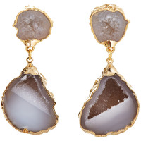 Crystal Geode Merle Earrings, Drops Earrings