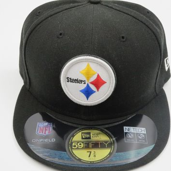 New Era Pittsburgh Steelers NFL Sideline 59Fifty Black Fitted Hat Baseball Cap