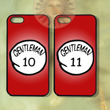 Thing 1 and thing 2 Gentleman-iPhone 5, 5s, 5c, 4s, 4, ipod touch 5, Samsung GS3 GS4-Silicone Rubber or Hard Plastic Case cover