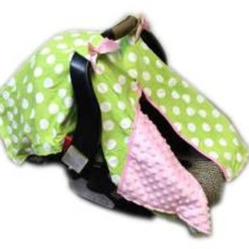 BayB Brand Car Seat Cover - Green Polka Dot