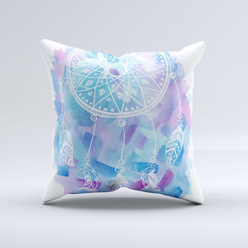 The Watercolor Dreamcatcher ink-Fuzed Decorative Throw Pillow