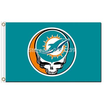 Miami Dolphins Stealing Your Face Flag 3x5FT NFL banner 100D 150X90CM Polyester brass grommets custom66,free shipping