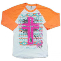 Orange Cross Raglan
