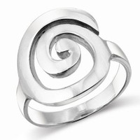 MIMI Sterling Silver Large Open Celtic Swirl Ring