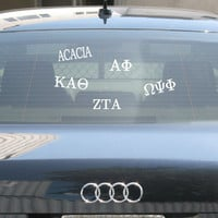 Greek Car Window Sticker | Sorority and Fraternity gifts and accessories from SomethingGreek.com