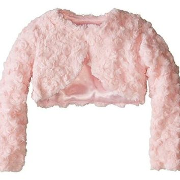 Bonnie Jean Girls' Faux Fur Jacket in Pink