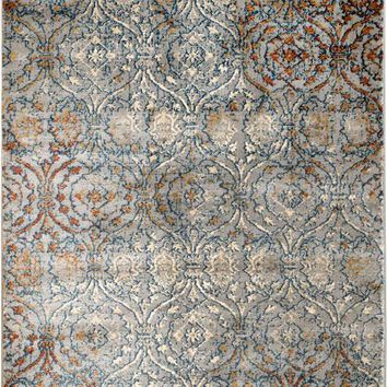 2085 Light Blue Abstract Contemporary Area Rugs