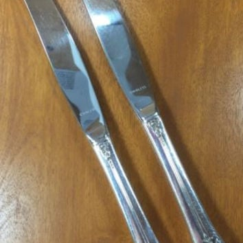 1881 Rogers Silverplate Plantation Oneida Ltd Set 2 Dinner Knife Flatware OHSPLA