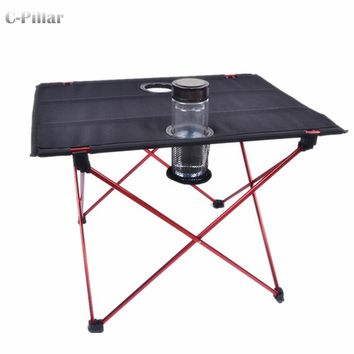 Extremely Lightweight! Portable Outdoor Table Aluminium Alloy Folding Table for Camping Picnic Travel Fishing BBQ Outdoor