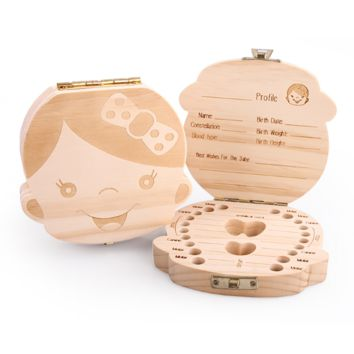 Baby Tooth Wooden Storage Boxes
