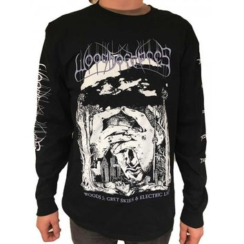 """Woods Of Ypres """"Woods 5: Grey Skies & Electric Light"""" Long Sleeve T shirt"""