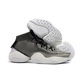 Adidas Crazy BYW White Gray Boost Basketball Shoes - Best Deal Online