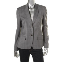 BOSS Hugo Boss Womens Jadena Wool Peak Collar Two-Button Blazer