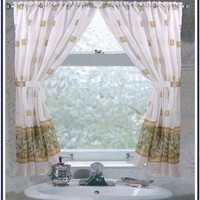 Windsor Bathroom Window Curtain - 5 Colors