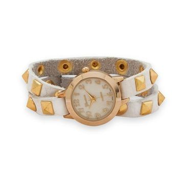 Geneva Leather Fashion Wrap Watch