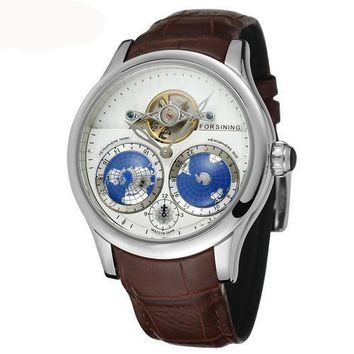 GLADIATOR GLOBE Unique Luxury 17-Jewels Movement World Map Watch