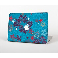The Colorful Blue and Red Starfish Shapes Skin Set for the Apple MacBook Air 11""