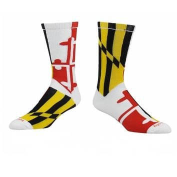 Maryland Flag Athletic Running Socks