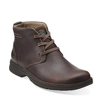 Senner Ave in Brown Tumbled Leather - Mens Boots from Clarks