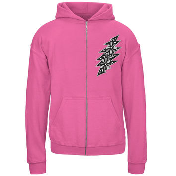 Grateful Dead - Black & White Calaveras Pink Youth Zip Hoodie