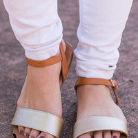 Touch Of Glam Sandals, Camel