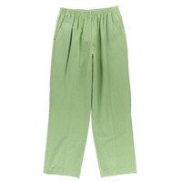 Alfred Dunner Womens Textured Flat Front Casual Pants