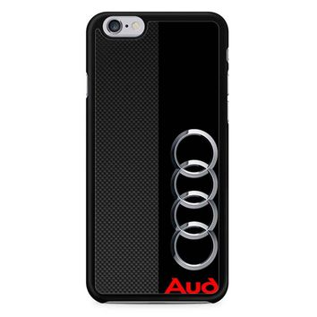 Audi Logo On A Field Of Black iPhone 6/6S Case