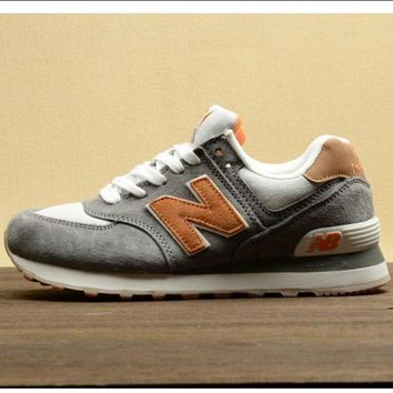 QIYIF new balance leisure shoes running shoes men s shoes for women s shoes couples n word grey