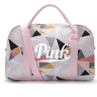VS Victoria's Secret PINK cotton canvas bag portable his traveling bag PINK bag for fitness