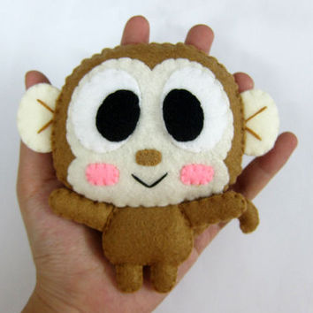Cute Palm Size Plush Monkey - Moses