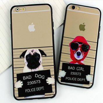 Cool Dog Case for iPhone 5s 6 6s Case iPhone 6 6s Plus Gift-76