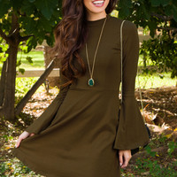 Free To Be Me Dress - Olive
