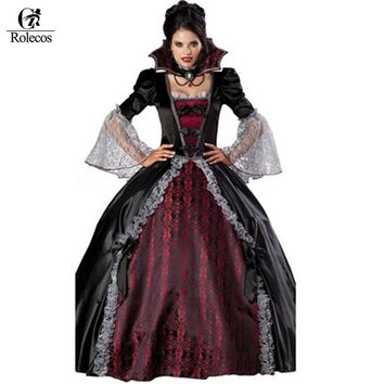 Halloween vampire Witch Zombie Queen Cosplay Costumes Carnival Costumes For Adult