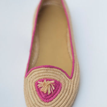 Moroccan Pink Women Slippers Genuine Leather