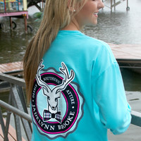 Tropical Blue Ruffle Logo - Long Sleeve