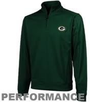 Cutter & Buck Green Bay Packers Edge Quarter Zip Jacket - Green