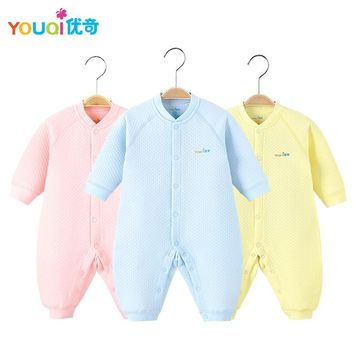 YOUQI Winter Baby Clothes Unisex Boys Girls Rompers Jumpsuit Toddler Infant Outwear Clothing fall Spring Underwear Outfits Suit