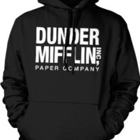 Dunder Mifflin Paper Inc Sweatshirt, The Office Hoodies, TV show Sweatshirts, Large, Navy