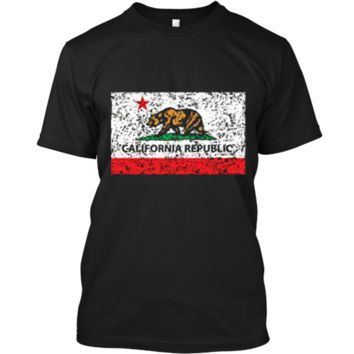 California Republic Cali Flag T-Shirt Socal Norcal Cencal T Custom Ultra Cotton