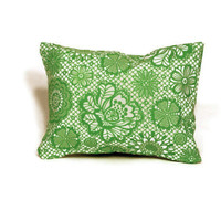 Aromatherapy Herbal Dream Pillow - Green Floral - (Blends Available: Restful, Peaceful, Romantic, or Creativity)
