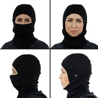 Merino Wool MultiPurpose Balaclava - Premium Soft Comfortable Breathable Lightweight Durable Breathable Black Tactical Ski Motorcycle Sports Face Mask for Men and Women Best for Cold Winter Weather