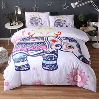 House Queen 2017 New Arrival Elephant Duvet Cover For CN/US/UKQUEEN Size Bed Bohemia Style Indian Polyester fiber Quilt Cover
